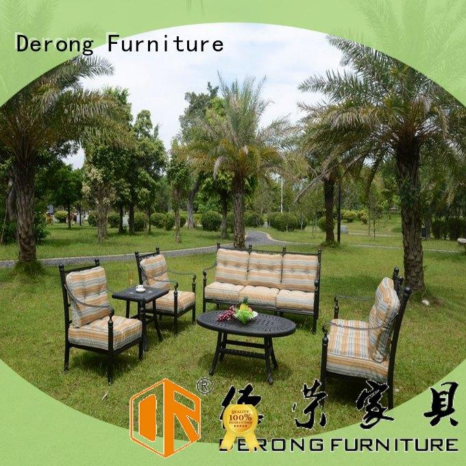 Derong Furniture hollow-carved design aluminium outdoor sofa for business for home