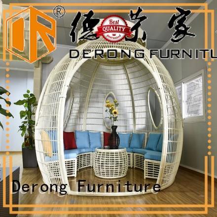 Derong Furniture ball shape buy gazebo supplier for restaurant