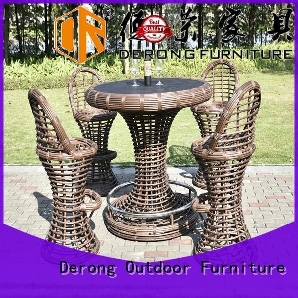 Derong Furniture Latest rattan lounge set factory for restaurant
