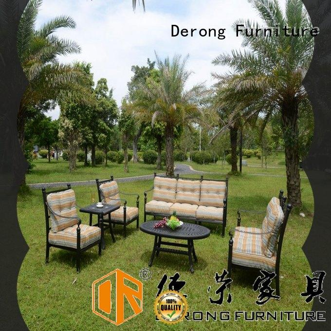 Derong Furniture Latest cast aluminium garden table from China for garden
