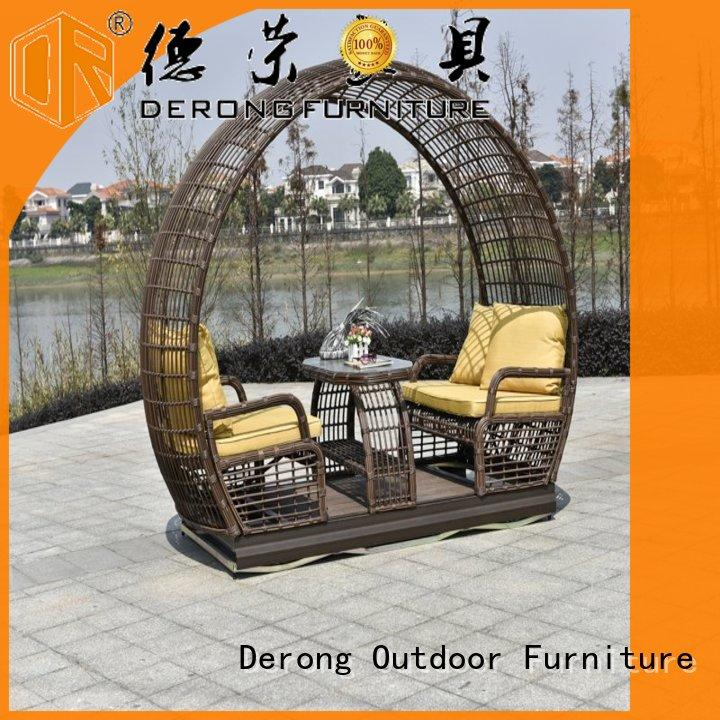 Best outside glider swing with canopy for business for resort hotel