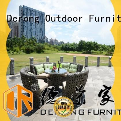 Top outdoor rattan sofa set brown company for garden