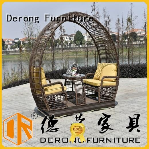 Derong Furniture modern design porch glider cushions factory for garden