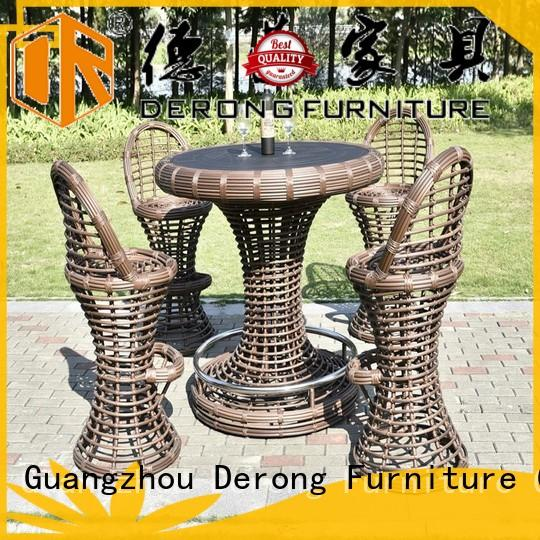 Derong Furniture leisure rattan bar table series for garden