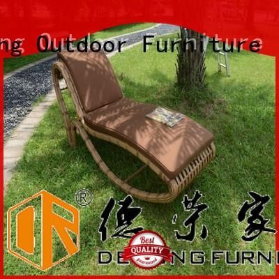 Derong Furniture durable pool chaise lounge chairs Supply for resort hotel
