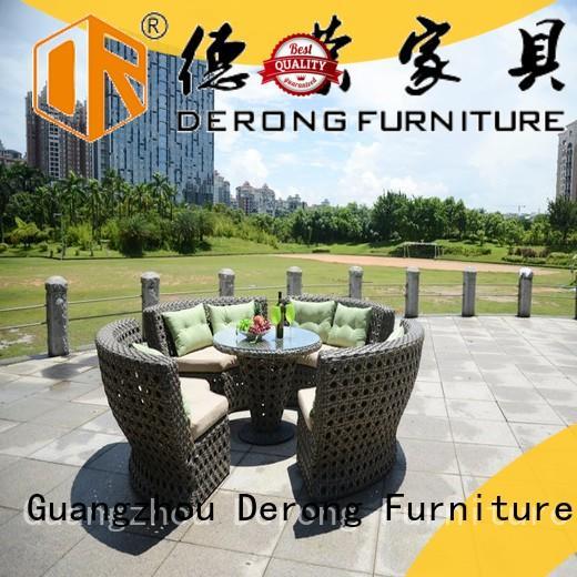 Derong Furniture comfortable garden sofa dining set manufacturer for home