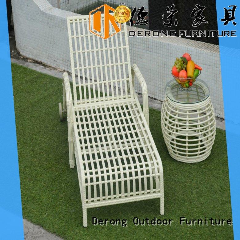 Derong Furniture PE rattan lounge chairs for sale manufacturers for resort hotel