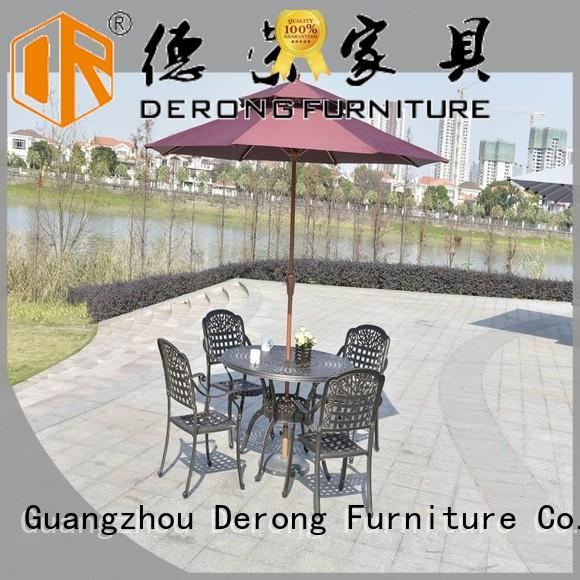 Derong Furniture New aluminium outdoor furniture factory price for garden