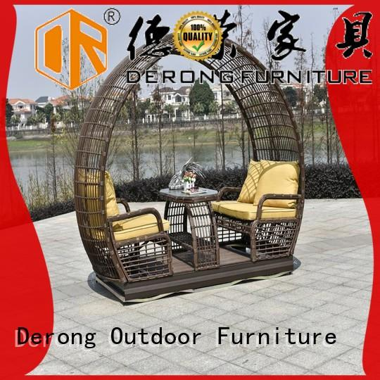 Derong Furniture with pagoda 3 person porch swing supplier for resort hotel