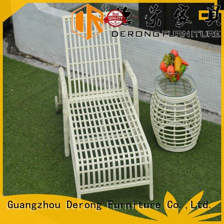 comfortable iron chaise lounge cast aluminum factory for seaside