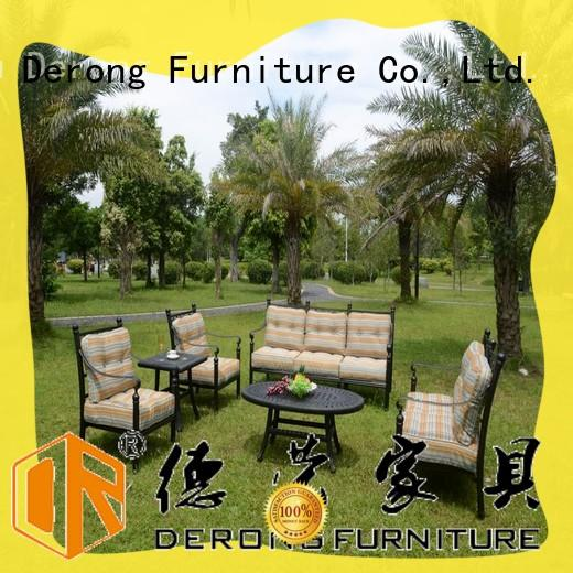 Top comfortable patio furniture hollow-carved design wholesale for villa