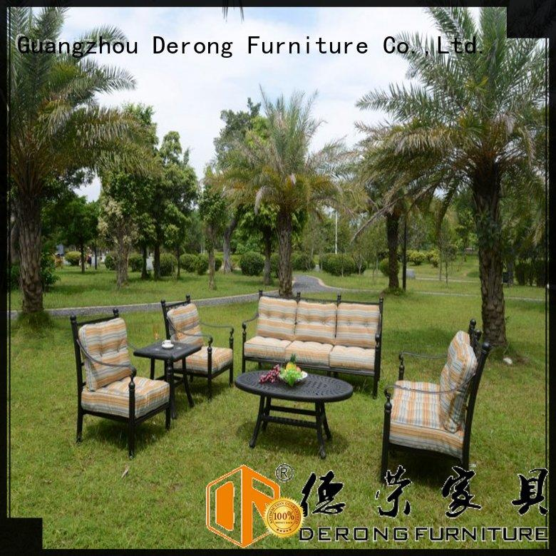 Derong Furniture hollow-carved design aluminium chairs for sale for business for park