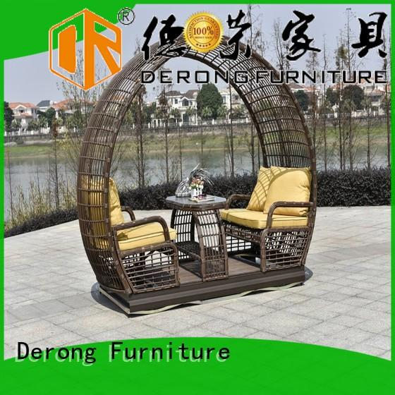 New patio glider PE rattan supplier for resort hotel
