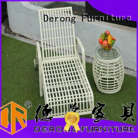 Derong Furniture cast aluminum best chaise lounge chairs from China for garden