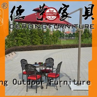 Derong Furniture aluminum frame commercial outdoor umbrella company for leisure clubs