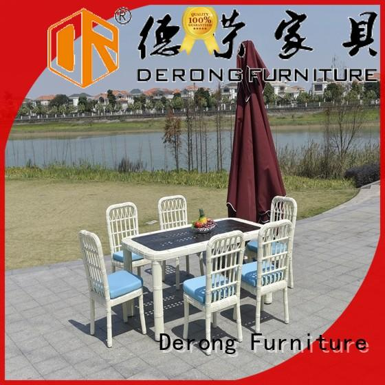Derong Furniture modern design rattan table and chairs company for seaside
