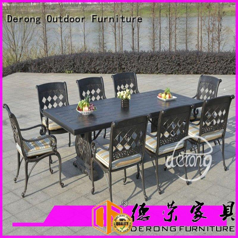 Wholesale aluminum dining set round design for garden