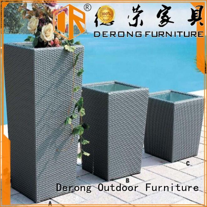 Derong Furniture dust bin outdoor garden accessories factory for resort hotel