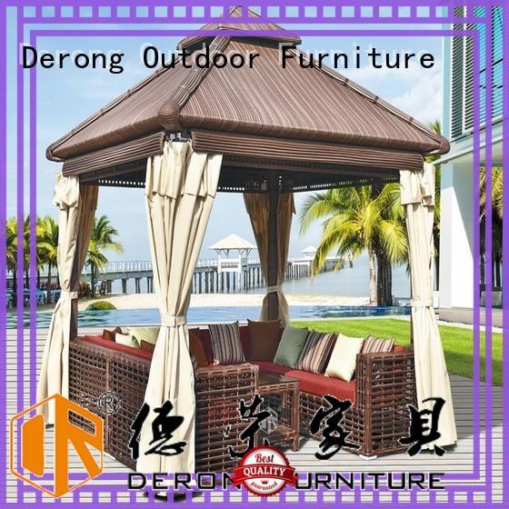 Derong Furniture Top rattan gazebo manufacturer for restaurant