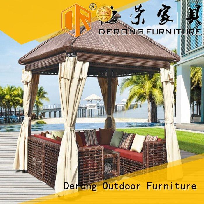 Derong Furniture luxury rattan gazebo company for resort hotels