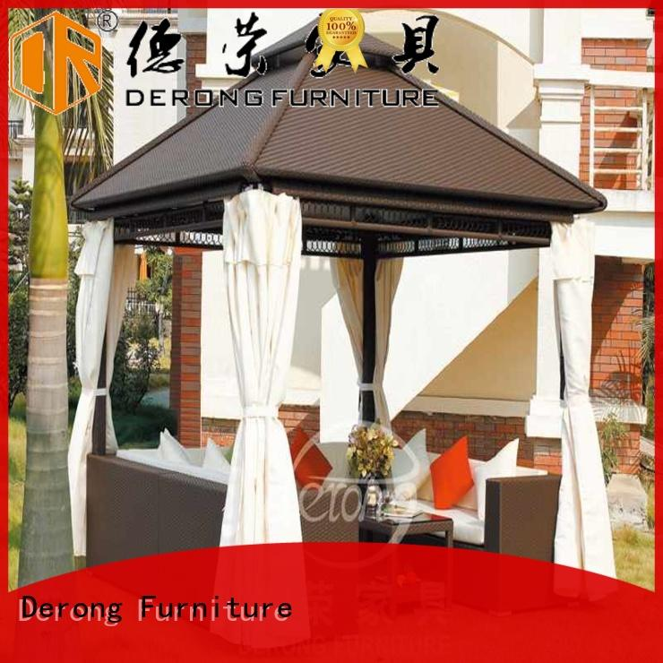 long lasting outdoor patio gazebo aluminum alloy frame personalized for resort hotels
