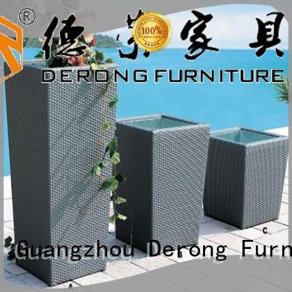 Derong Furniture steel outdoor garden accessories factory direct supply for resort hotel